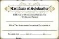 Printable Scholarship Certificate Award Template