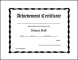Printable and Fillable Honor roll Award Certificate