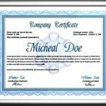 Professional Diploma Certificate Template