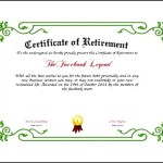 Retirement Certificate Template PDF
