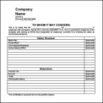 Salary Certificate Template Doc