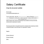 Salary Certificate Template Doc Free