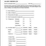 Salary Certificate Template Free PDF