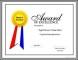Sample Award Certificate Sample