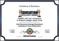 Sample Certificate of Excellence