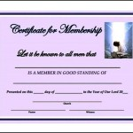 Sample Church Membership Certificate