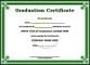 Sample Graduation Certificate