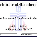 Sample Membership Certificate