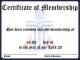 Sample Membership Certificate