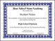 Sample Printable Honor Roll Certificate