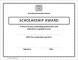 Sample Scholarship Award Certificate