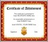 Sample School Certificate Template