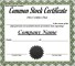 Sample Stock Certificate