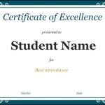 Sample Student Certificate Google Doc Template