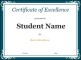 Sample Student Certificate Google Doc Template