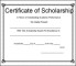 Scholarship Certificate Template PDF