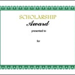 Scholarship Certificate Template PPT