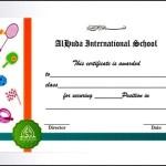 School Achievement Certificate in Sports