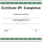 School Certificate of Completion Template PDF Format