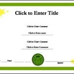 School Reward Success Certificate Template