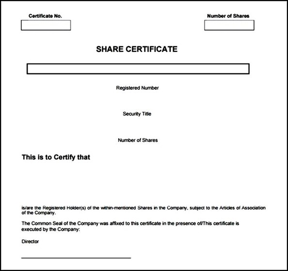 Formatted Stock Certificate Templates Certificate Templates Stock