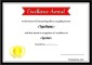 Simple Excellence Award Certificate AI Format