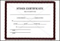 Simple Stock Certificate Template