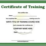 Simple Training Certificate Template