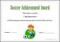 Soccer Certificate Achievement Award