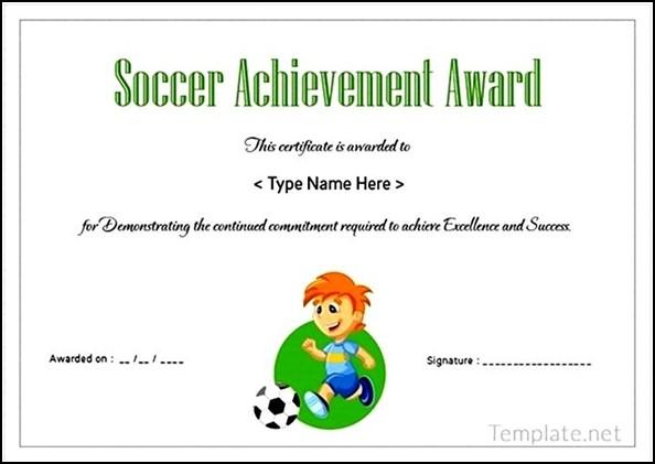 soccer certificate of achievement  Soccer Certificate Achievement Award - Sample Templates - Sample ...
