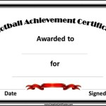 Sports Day Football Certificate Template