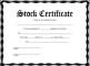 Stock Certificate Template PDF