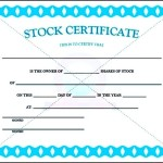 Stock Certificate Template PDF Sample