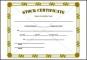 Stock Certificate Template Sample Free
