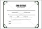 Stock Certificate Template to Download