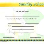 Sunday School Attendance Certificates