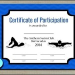 Swimming Participation Certificate