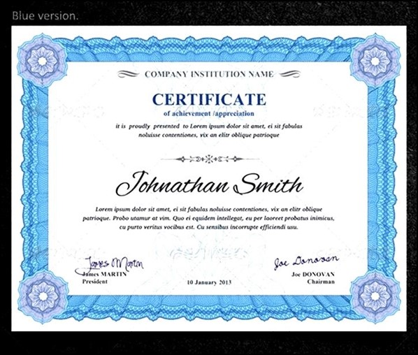 Training Certificate Template Download  Sample Templates  Sample