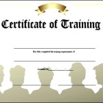 Training Completion Certificate Template Sample