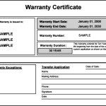 Warranty Certificate for Product