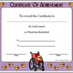 Wheelchair Basketball Certificate