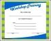 Workshop Training Certificate