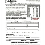 Authorization for Voluntary Payroll Deduction Form