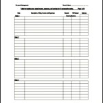 Blank Budget Tracking Template PDF File