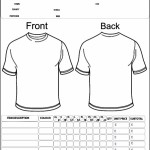 Blank Clothing Order Form Template