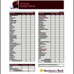 Budget Planner PDF File Download