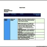 Budget Template for Contribution Project Proposal