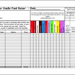 Candle Fundraiser Order Form Template