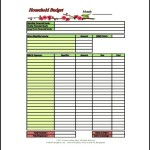 Detailed Household Budget Template