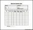 Employee Expense Sheet Template PDF Free Download